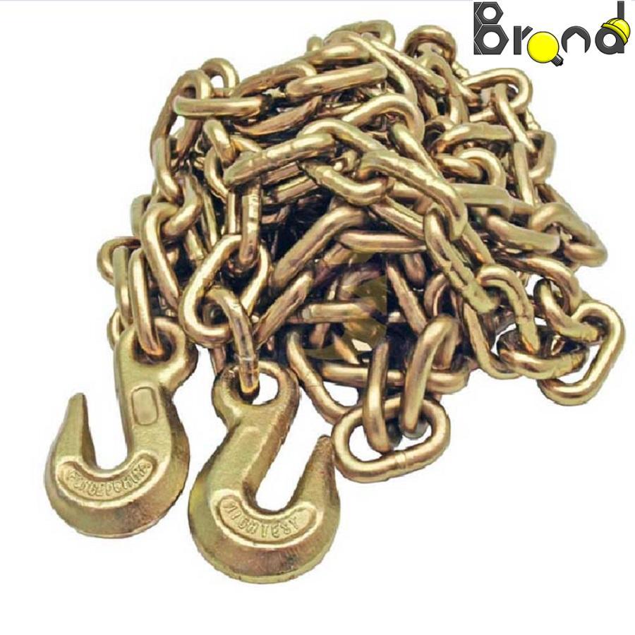 زنجیر قلاب کج دو سر قلاب بار برداری