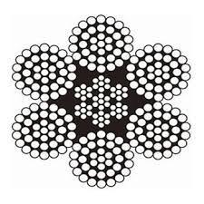سیم بکسل فولادی ۳۷×۶ + IWRC