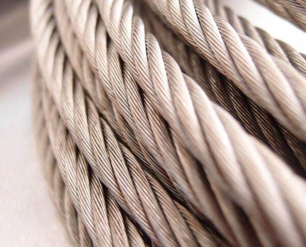 سیم بکسل استیل نگیر ۳۱۶ ساختار ۷X7 , 7*7 Stainless Steel 316 Wire Rope , سیم بکسل استیل بگیر ۳۰۴ ساختار ۷X7