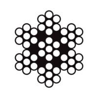 سیم بکسل استیل بگیر 304 ساختار ۷X7 , سیم بکسل استیل نگیر 316 ساختار ۷X7