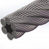 سیم بکسل استیل بگیر ۳۰۴ ساختار ۶X19 , سیم بکسل استیل نگیر ۳۱۶ ساختار ۶X19 , Stainless Steel 316 Wire Rope